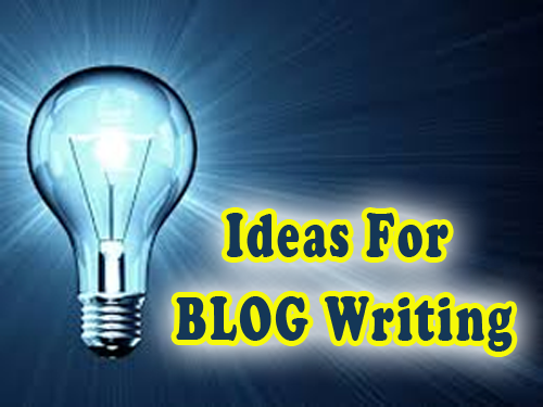 Ideas for blog writing