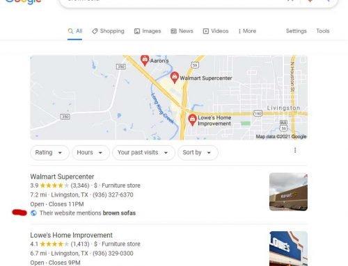 Understanding Google's Local Justifications
